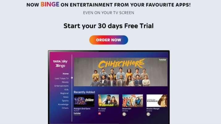 tata sky, tata sky binge, tata sky binge free 30 days trial, tata sky binge new users, ott services,