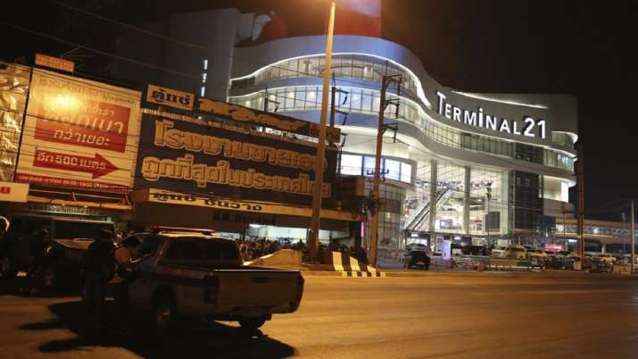 India Tv - Vehicles block the road in front of Terminal 21 Korat mall in Nakhon Ratchasima, Thailand