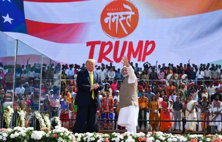 PM Modi and US President Donald Trump at Namaste Trump