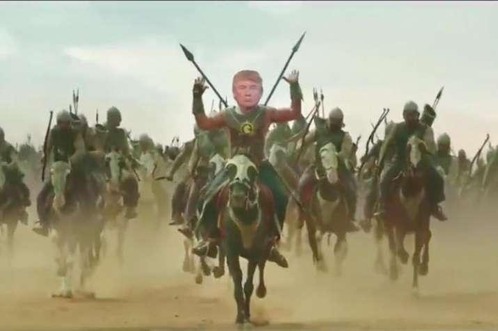 When US President Donald Trump turned into Prabhas's 'Baahubali', watch viral video
