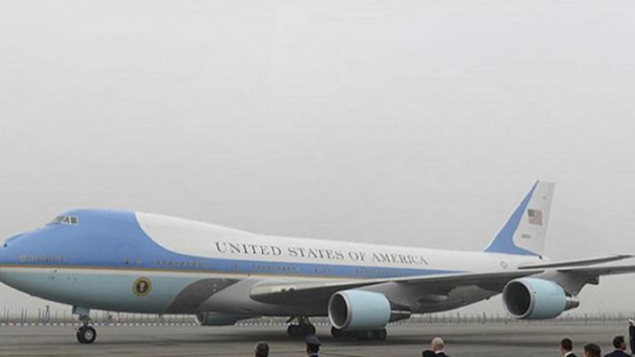 Jaipur airport, Trump, Air Force One, US President Trump, Donald Trump, PM Modi, New Delhi