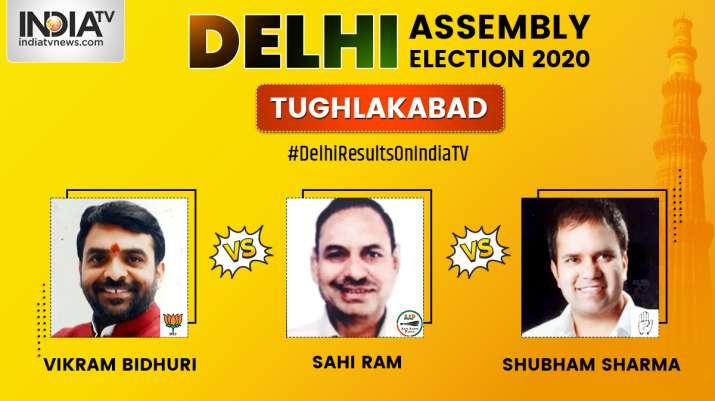 Tughlakabad 2020 election result, Sahi Ram AAP, Vikram Bidhuri BJP, Shubham Sharma Congress, electio