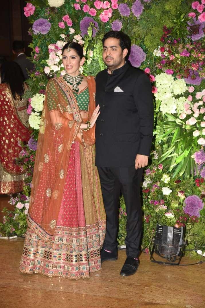 India Tv - Akash Ambani with wife Shloka Mehta.