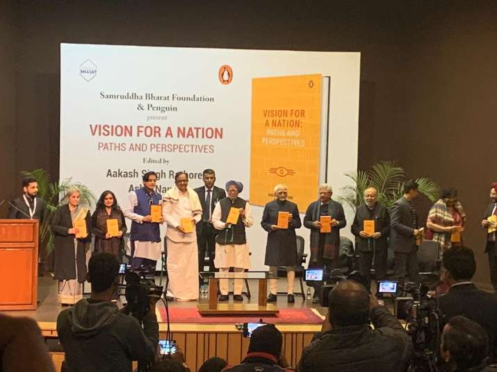 India Tv - Book titled 'Vision for a Nation: Paths and Perspectives' launched by former PM Dr. Manmohan Singh