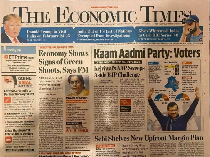 India Tv - Economic Times