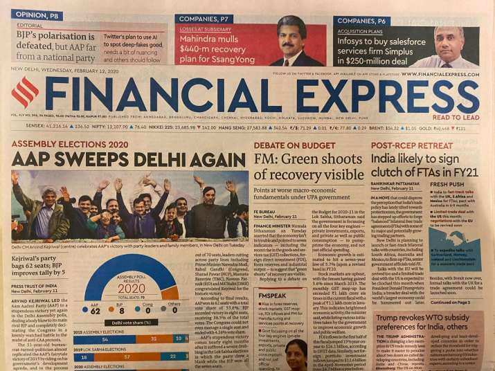 India Tv - The Financial Express