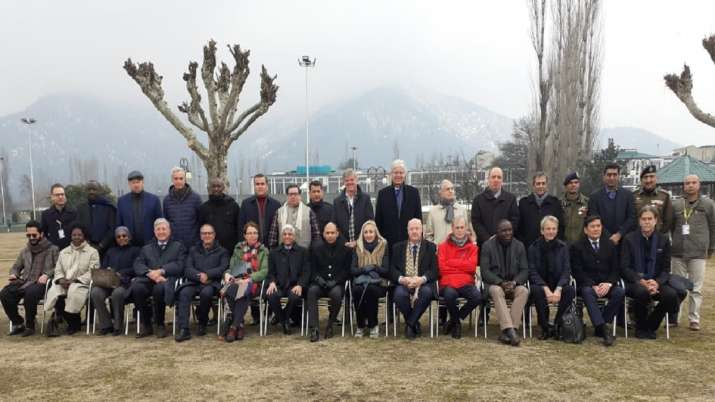 Foreign Envoys in J-K: Extensive interaction with civil society, politicians, business leaders and m