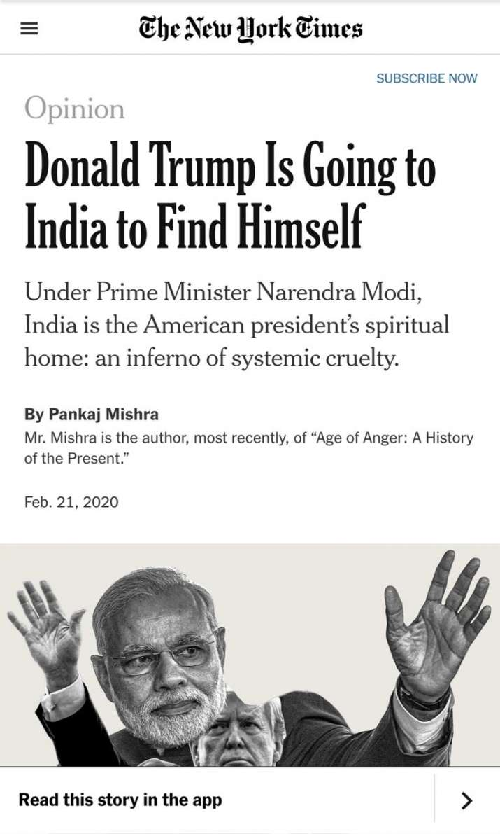 India Tv - The New York Times