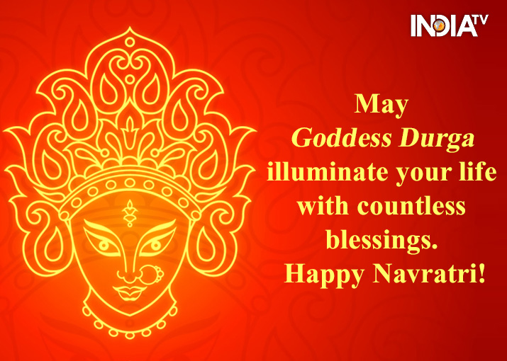 India Tv - Happy Navratri 2020: Pictures, Posters, Wallpapers, and HD Images to share on Facebook and WhatsApp: