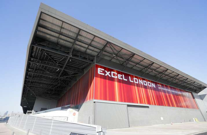 The ExCel exhibition centre in London, Wednesday, March 25, 2020. The British Government announced T