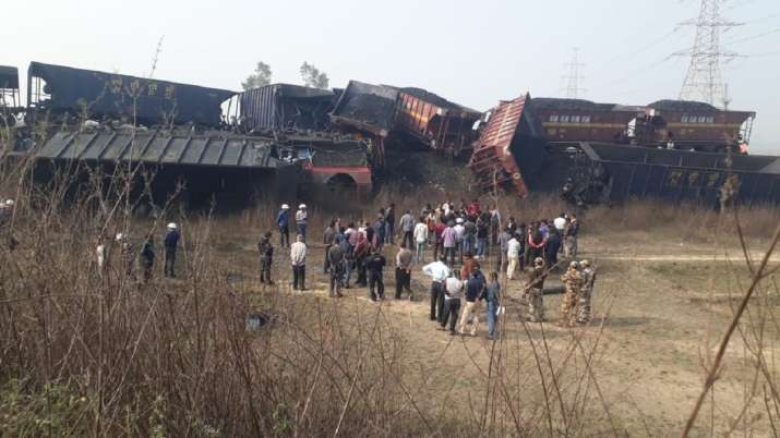 2 cargo trains carrying coal collide in Singrauli, Madhya