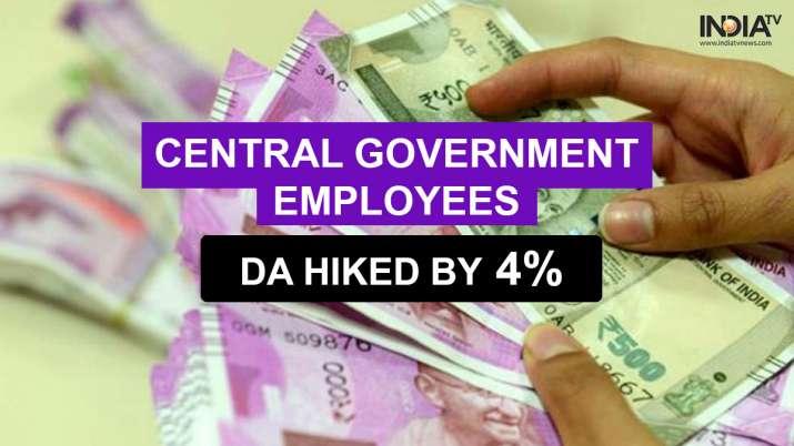 DA hike latest news, 4 percent da hike latest news, Dearness Allowance, PM Narendra Modi, Cabinet me