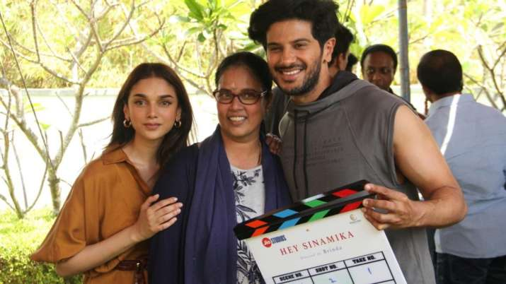 Dulquer Salmaan, Aditi Rao Hydari and Kajal Aggarwal team up for Tamil romance 'Hey Sinamika'