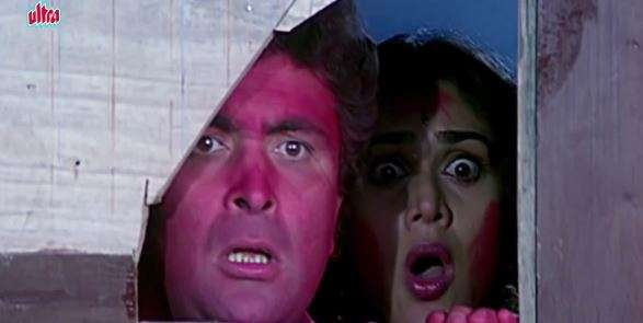 India Tv - On Holi, Shekhar's, played by Rishi Kapoor, younger brother and his friends rape the house help Urmi.