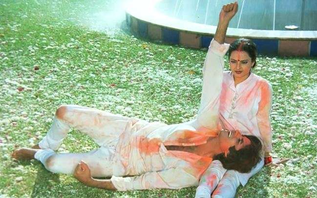 Holi sequences sometimes are venerated with beautiful songs
