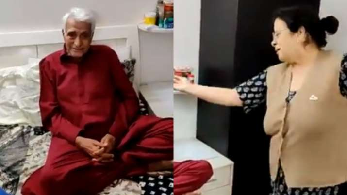 Made Our Day! Woman dancing on Gali Mein Aaj Chand Nikla to welcome husband from hospital is unmissa