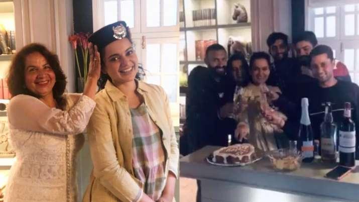 Peep into Kangana Ranaut's 33rd birthday celebration at Manali, courtesy sister Rangoli Chandel