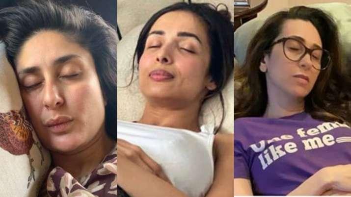 Makeup Ke Sath? Kareena Kapoor, Malaika Arora, Karisma brutally trolled for their 'fake napping' pho