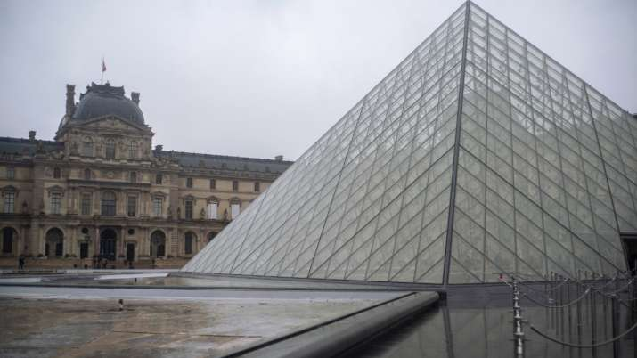 India Tv - Louvre Museum in Paris, France, was shut down on March 1, 2020, with workers who guard its trove of
