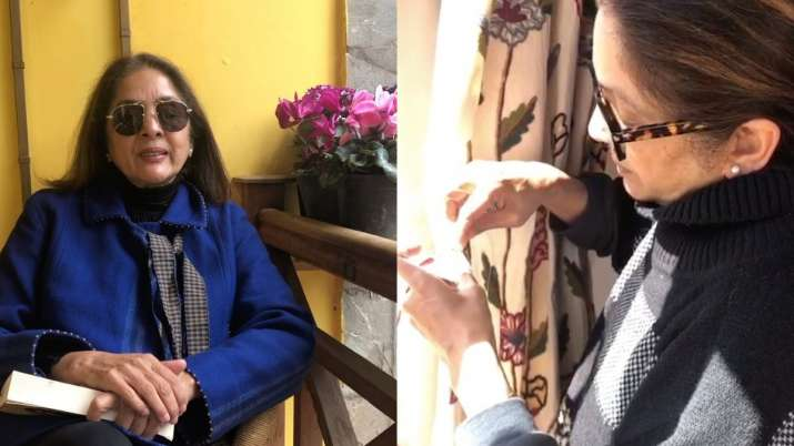 COVID-19 effect: Unable to call tailor, Neena Gupta sews home curtains. Watch video