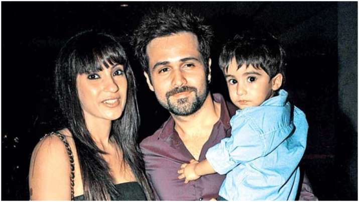 India Tv - Emraan Hashmi with wife and son