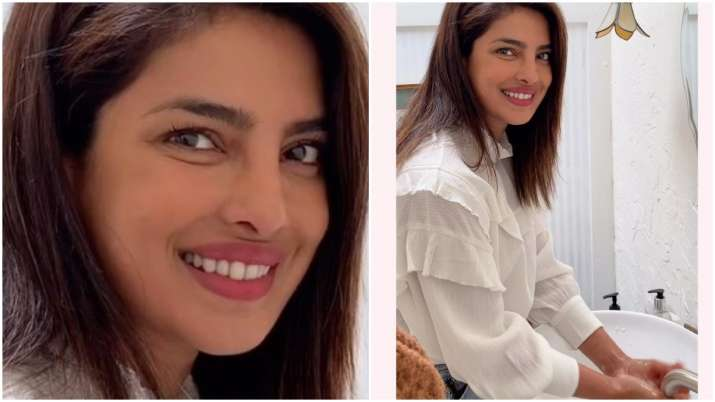 Priyanka Chopra Takes Up Who S Safehands Challenge To Fight Covid