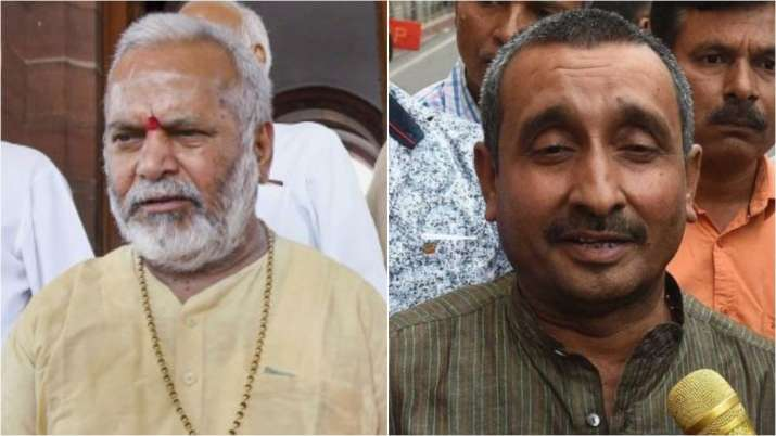 Next to 'name and shame' poster, SP leader erects hoarding showing Sengar and Chinmayanad in Lucknow