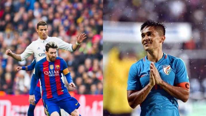 Sunil Chhetri says he can beat Lionel Messi, Cristiano Ronaldo in carrom