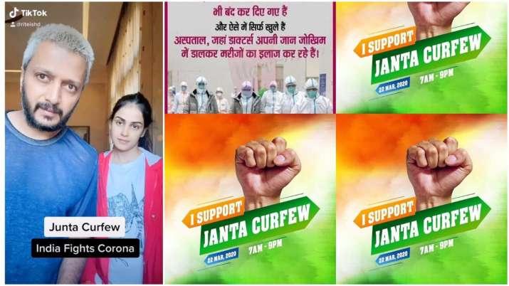 Bollywood celebs hail Janata Curfew Live Updates