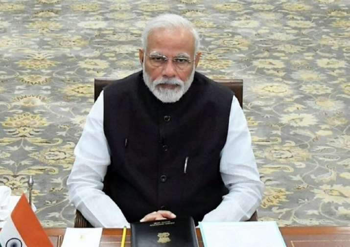 PM Modi during the Extraordinary Virtual G20 Leaders'