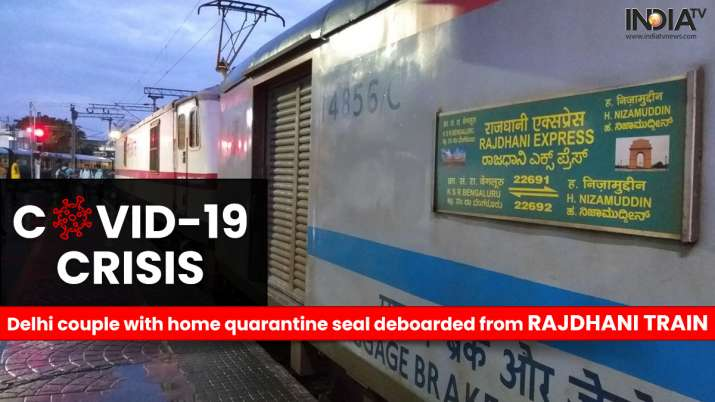 Delhi couple with home quarantine seal deboarded from Rajdhani train