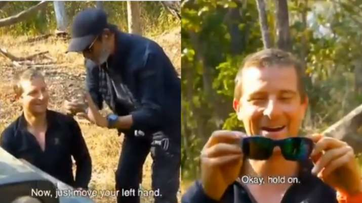 Into The Wild with Bear Grylls: Mind It! Rajinikanth teaches Bear Grylls his iconic glasses wearing