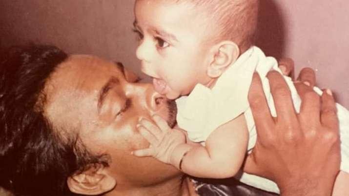 Chiranjeevi wishes son Ram Charan with throwback photo on birthday