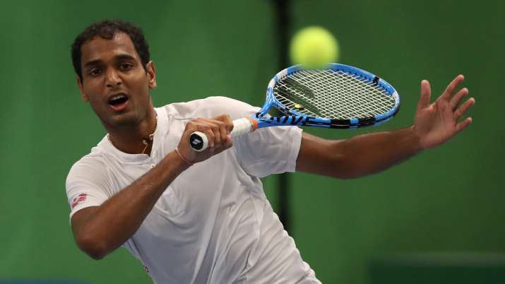 The fourth-seeded Indian lost 6-3, 3-6, 0-6 in the men's