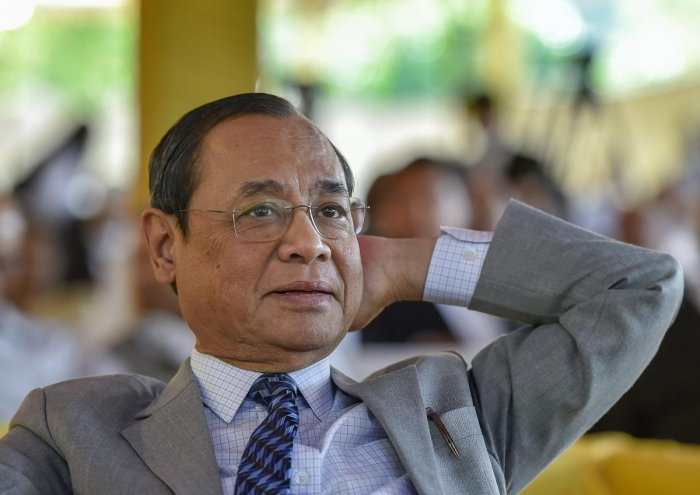 A file photo of ex-CJI Ranjan Gogoi