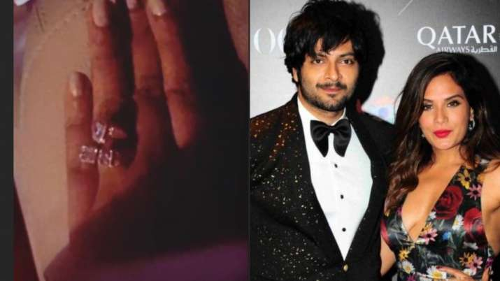 Richa Chadha flaunts her diamond studded engagement ring ahead of wedding with Ali Fazal