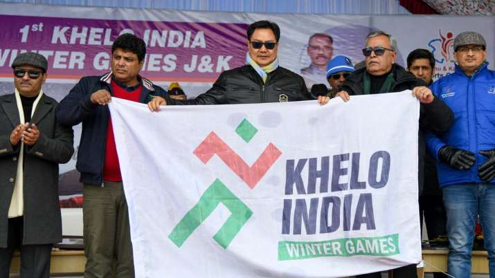 khelo india, khelo india winter games, kiren rijiju, khelo india winter games gulmarg, sports minist