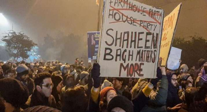 A file photo of protest at Shaheen Bagh