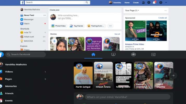 Dark Mode On Facebook Here S How To Get It On Facebook For Web Technology News India Tv How to turn on facebook dark mode. dark mode on facebook here s how to