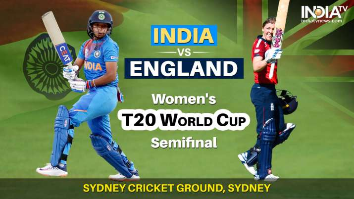 Live Cricket Streaming, India vs England, Women's T20 World Cup 1st semifinal