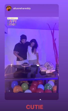India Tv - Taking you inside Allu Arjun's birthday celebration with kids and wife amid lockdown