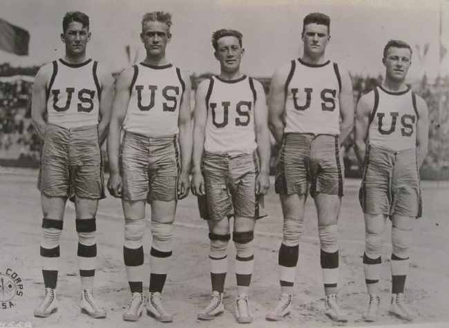 The US team during the Inter-Allied games in 1919