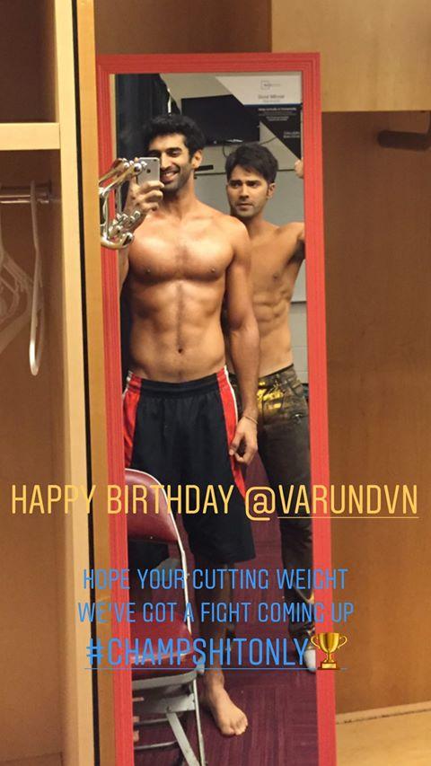 India Tv - Aditya Roy Kapur's birthday wish for Varun Dhawan