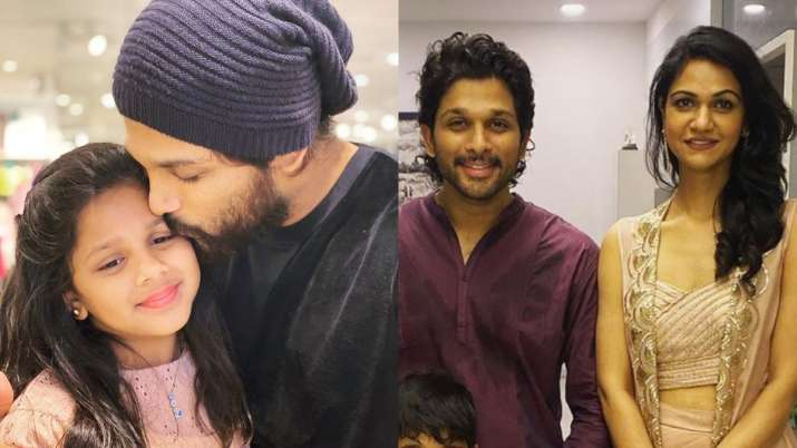 Adorable photos of Telegu superstar Allu Arjun with wife Sneha Reddy and kids