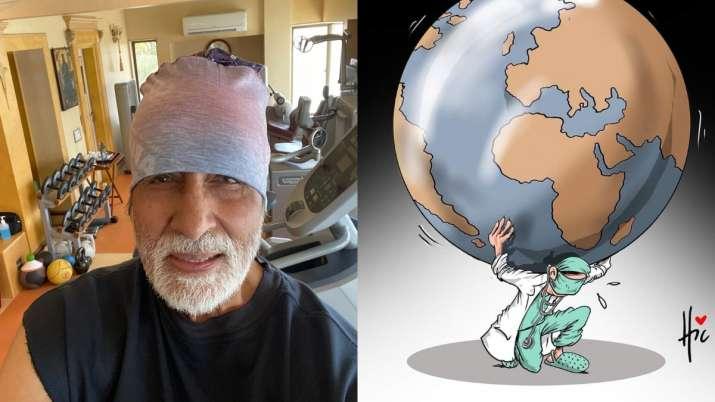 Amitabh Bachchan dedicates film Coolie song 'sari duniya ka bojh' to doctors working amid COVID-19 o