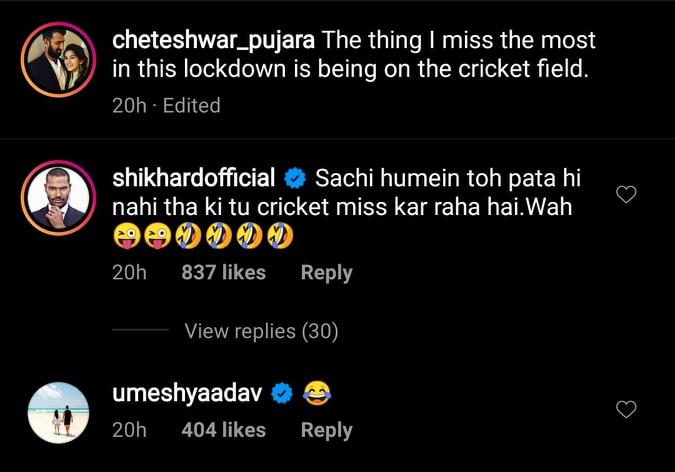 India Tv - Dhawan, Umesh engage in banter with Pujara.