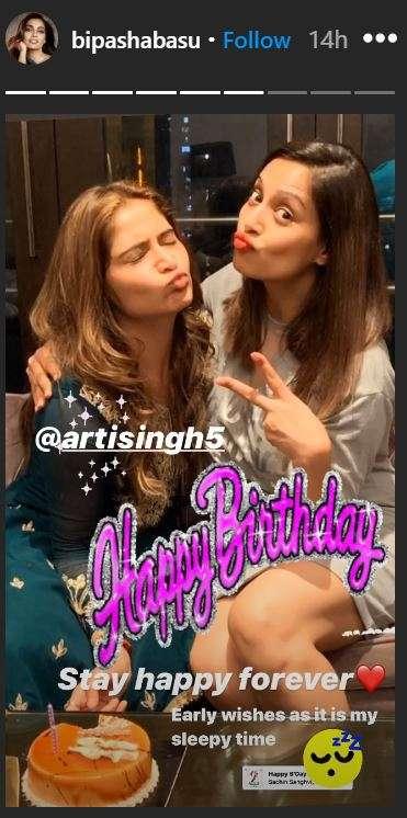 India Tv - Karan Singh Grover, Bipasha Basu pen birthday messages for Arti Singh