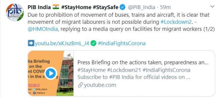India Tv - movement of migrant labourers not possible, home ministry, migrant labourers, migrants, migrant move