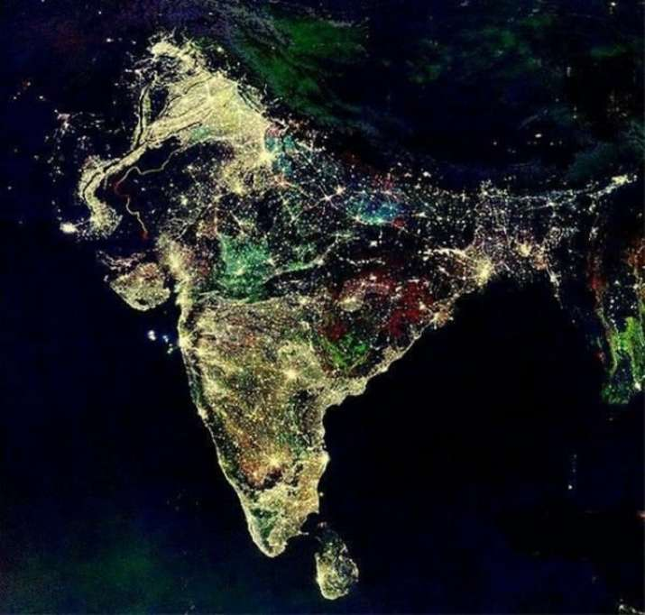 NASA Satellite Images of India Today: Prime Minister Modi, who had had on Friday urged people to tur