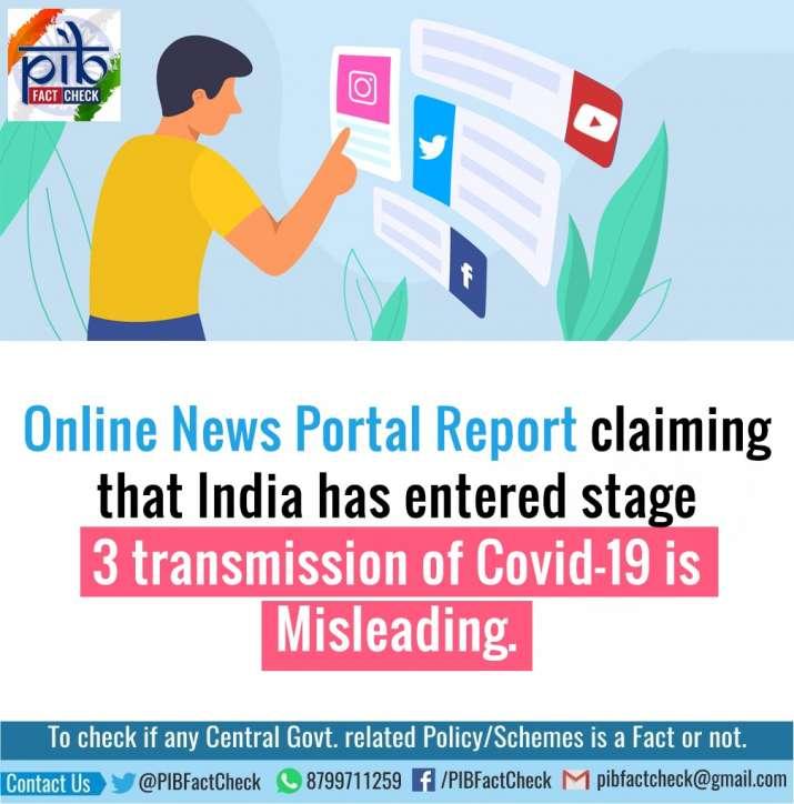 India Tv - coronavirus fake news, covid-19 outbreak, coronavirus stage 3 india